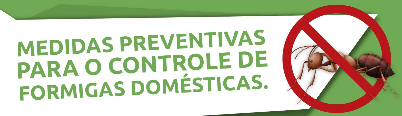 Medidas Preventivas para o Controle de Formigas Domésticas